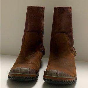 SOREL WOMEN SLIMSHORTIE MADDER BROWN BOOTS